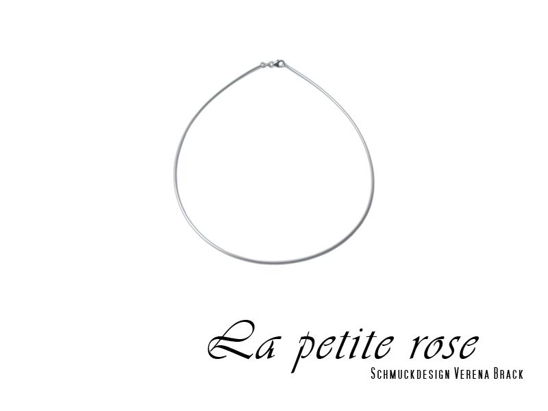 25,-  //  Omega Collier mit Karabiner, Silber, 42 oder 45 cm von La petite rose - Schmuckdesign Verena Brack   auf DaWanda.com