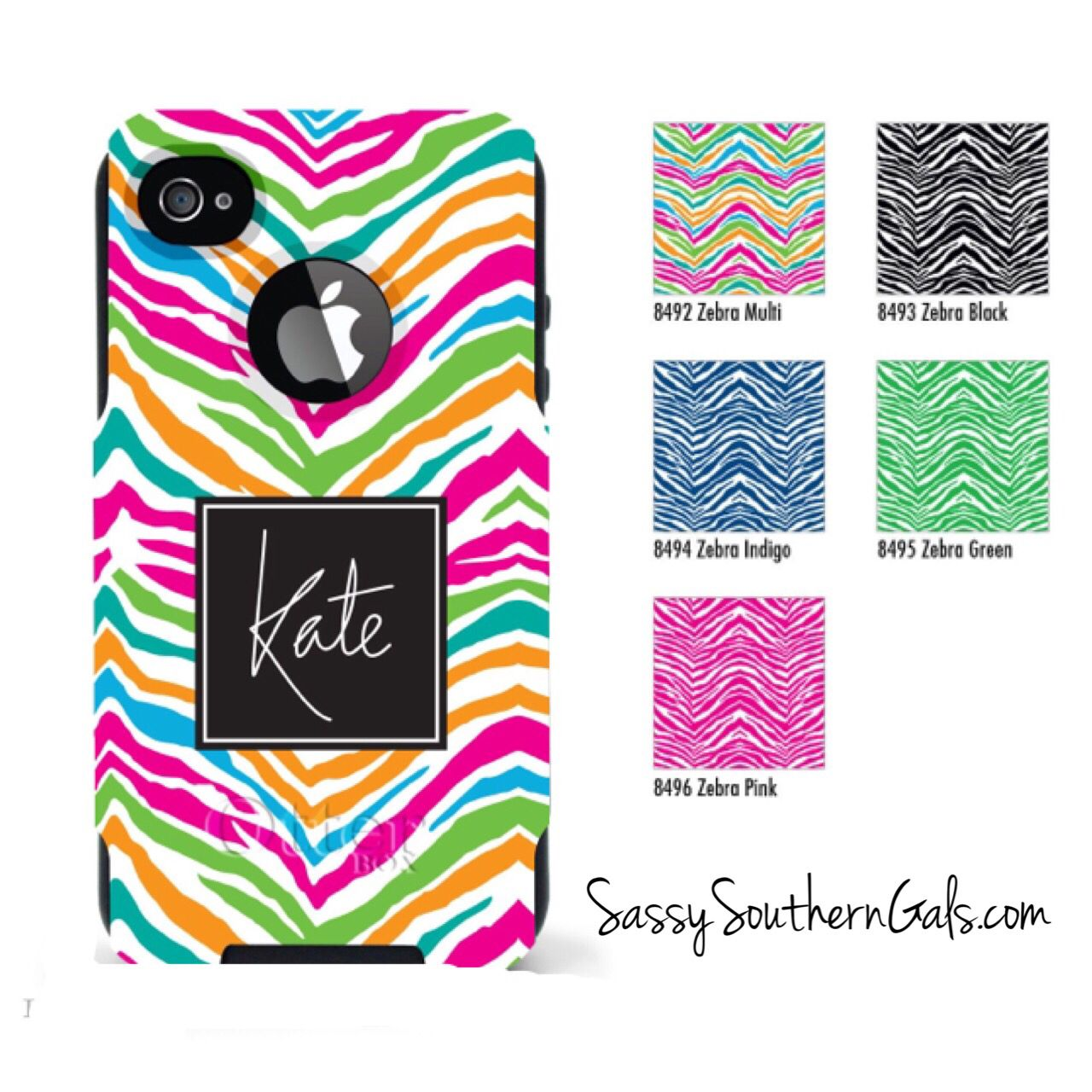 Monogrammed Otterbox for iPhone 6 on www.SassySouthernGals.com - Monogrammed Gifts & Accessories