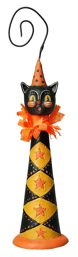 Halloween Cat Horn Ornament Ornaments, Holiday store