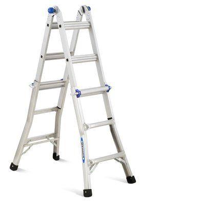 Werner 13 Ft Aluminum Telescoping Multi Position Ladder Products Multi Ladder Multi Purpose Ladder Ladder