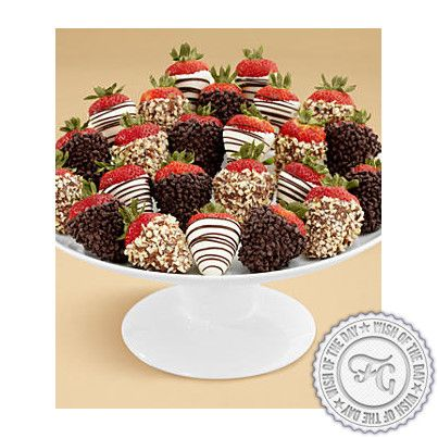 Have a sweet week everybody!   Deluxe Hand-Dipped Strawberries by Proflowers.  #strawberries #chocolate #sweets