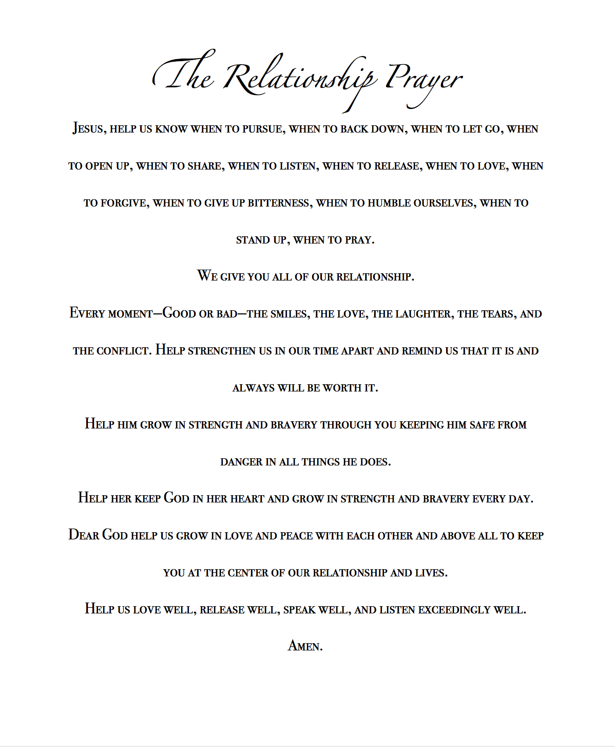 New Relationship Love Quotes: The Relationship Prayer...LDR Couple...Military Couple