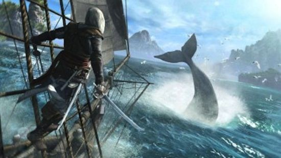 We don't know if there is actual whaling in Assassin's Creed IV: Black Flag. But if there is, PETA is against it.