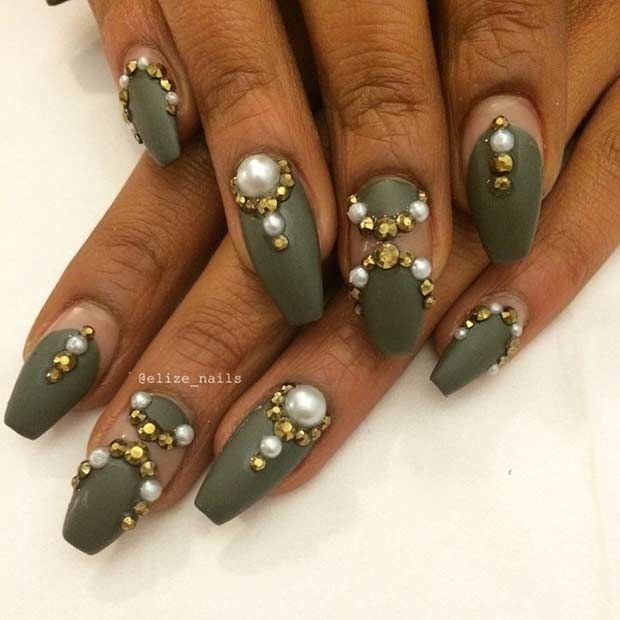 31 Trendy Nail Art Ideas for Coffin Nails - 31 Trendy Nail Art Ideas For Coffin Nails Coffin Nails, Trendy