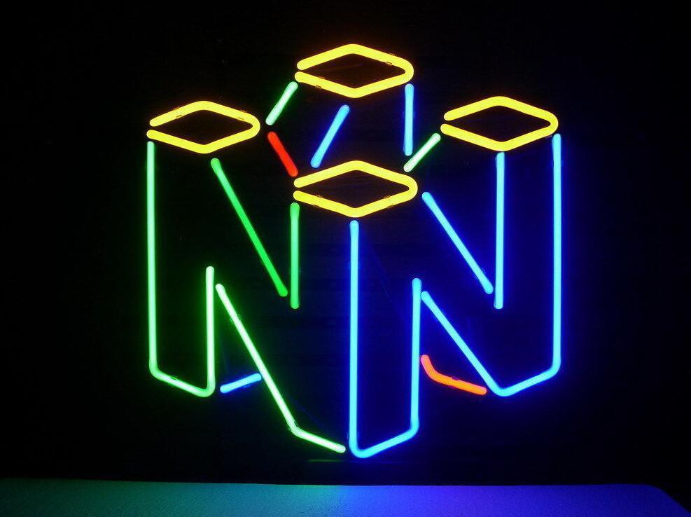 Game 64 Neon Sign Iluminación de neón, Letrero de neón, Neón