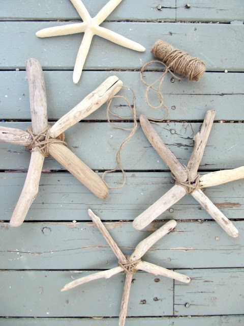 Driftwood Starfish ... perfect way to remember a beach trip and even use as an ornament at Christmas!! #beachcottageideas