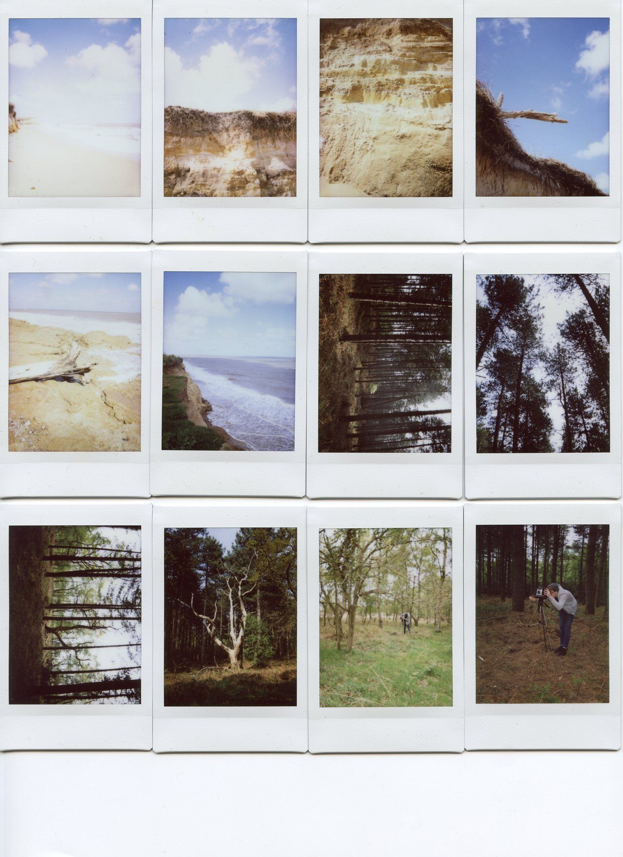 Collage Instax jackdaviddelaney: instax backlog dunwich and covehithe Collage Instax