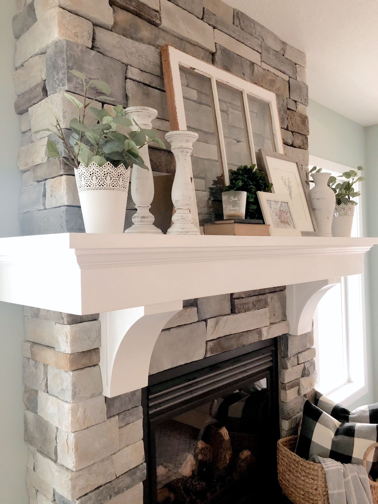 Farmhouse Mantel Decor Valley Birch Farmhouse Firep