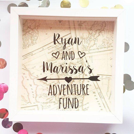 Our Honeymoon Fund Glamorous Jam Jar Savings Bank Money Box