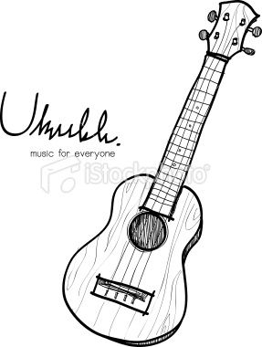 This Is A Vector File Of Ukulele Sketch In 2019 Ideas Pinterest