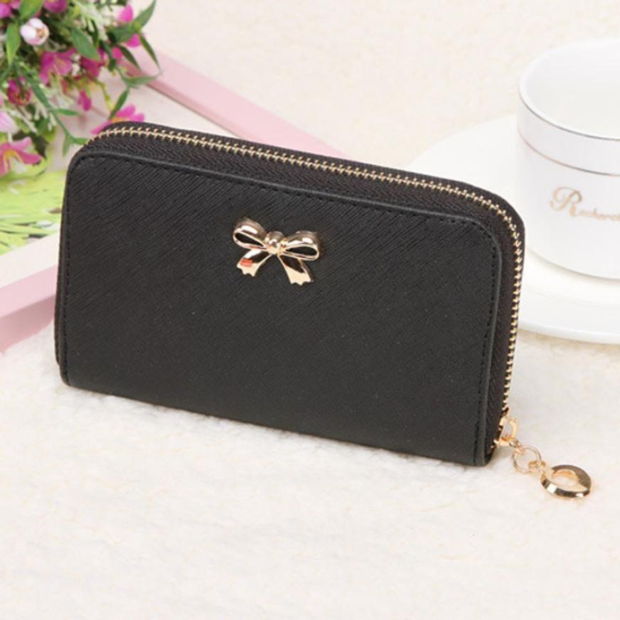 e6053c9621c Hot On Sales Female Wallets Zipper Korean Cute PU Leather Solid wallet  Women Wallets clutch