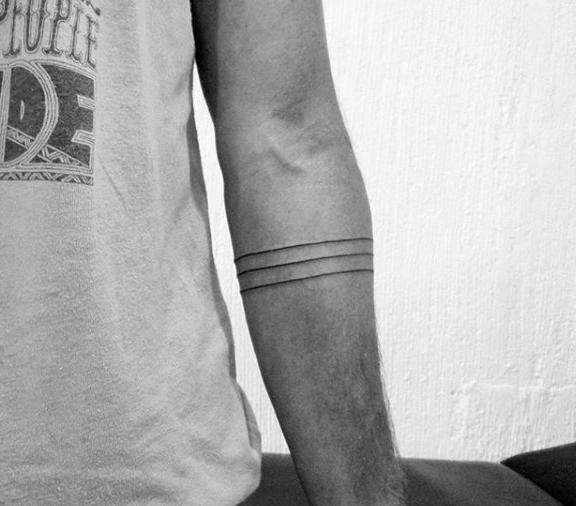 Minimalist forearm arm band