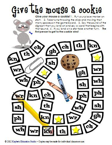 Monster image inside printable phonics games