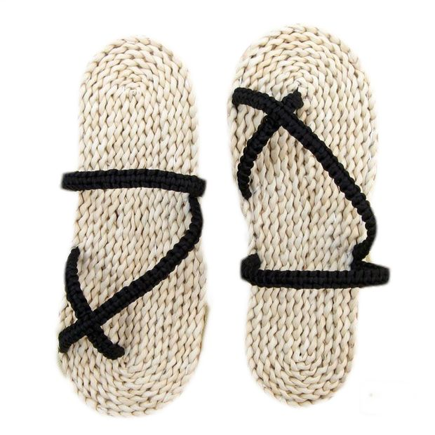 Straw Flip-flops Anime Slippers