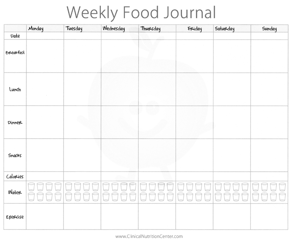 Importance Of Keeping A Food Diary Free Printout Paula S Healthy Living Food Journal Food Diary Template Food Diary
