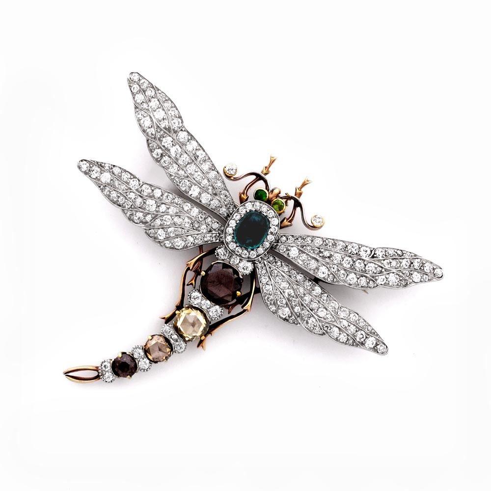 An Edwardian Gem-Set Dragonfly Brooch - Shrubsole