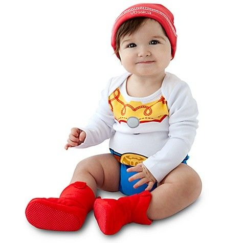 disney toy story cowgirl jessie infant onesie baby bodysuit set red hat costume in clothing - Toddler Jessie Halloween Costume