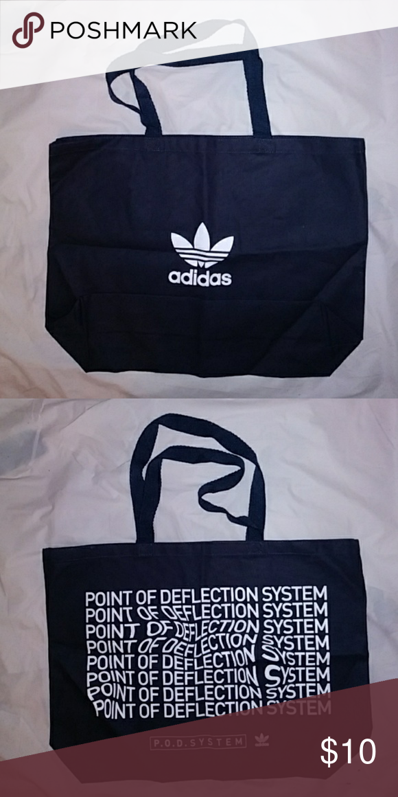 f3c5c41434 Adidas Originals P.O.D System Tote Bag Black Promotional Tote Bag for Adidas  Originals P.O.D System Sneakers Black 100% Cotton 19 1 2 inch wide