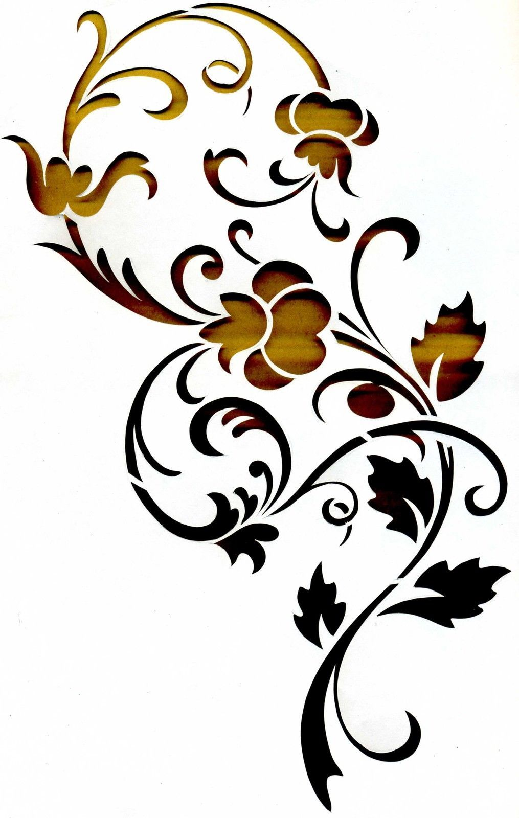 wandschablonen schablone wandtattoo ornament ebay sl. Black Bedroom Furniture Sets. Home Design Ideas