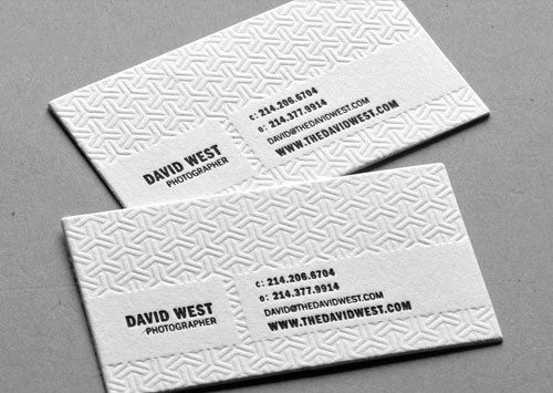 Blind debossed letterpress biz cards 3d tutorials pinterest its been a little while alright a long while since i lasted posted some fantastic business card designs so without further ado heres a long reheart Gallery