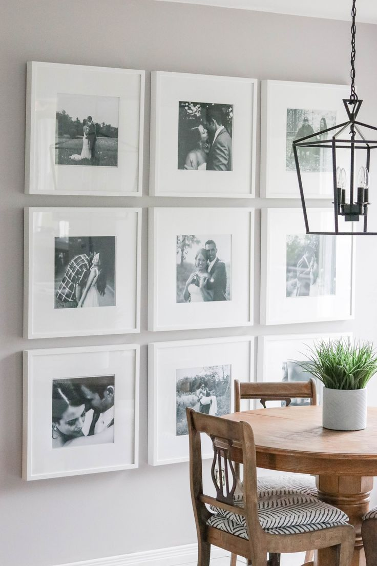Photo Gallery Wall reveal with tips and tricks for putting up your very own picture galleries! {DIY + Wall Makeover}