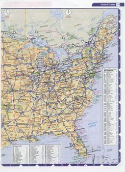 Map of USA. Road map US. Detailed maps of US. Free atlas of ...