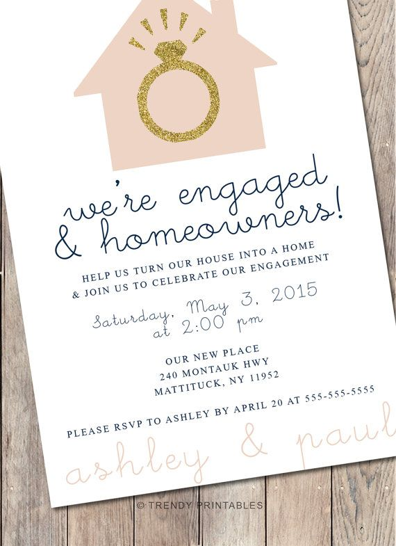 Engagement Party Invitation Housewarming Party by TrendyPrintables ...