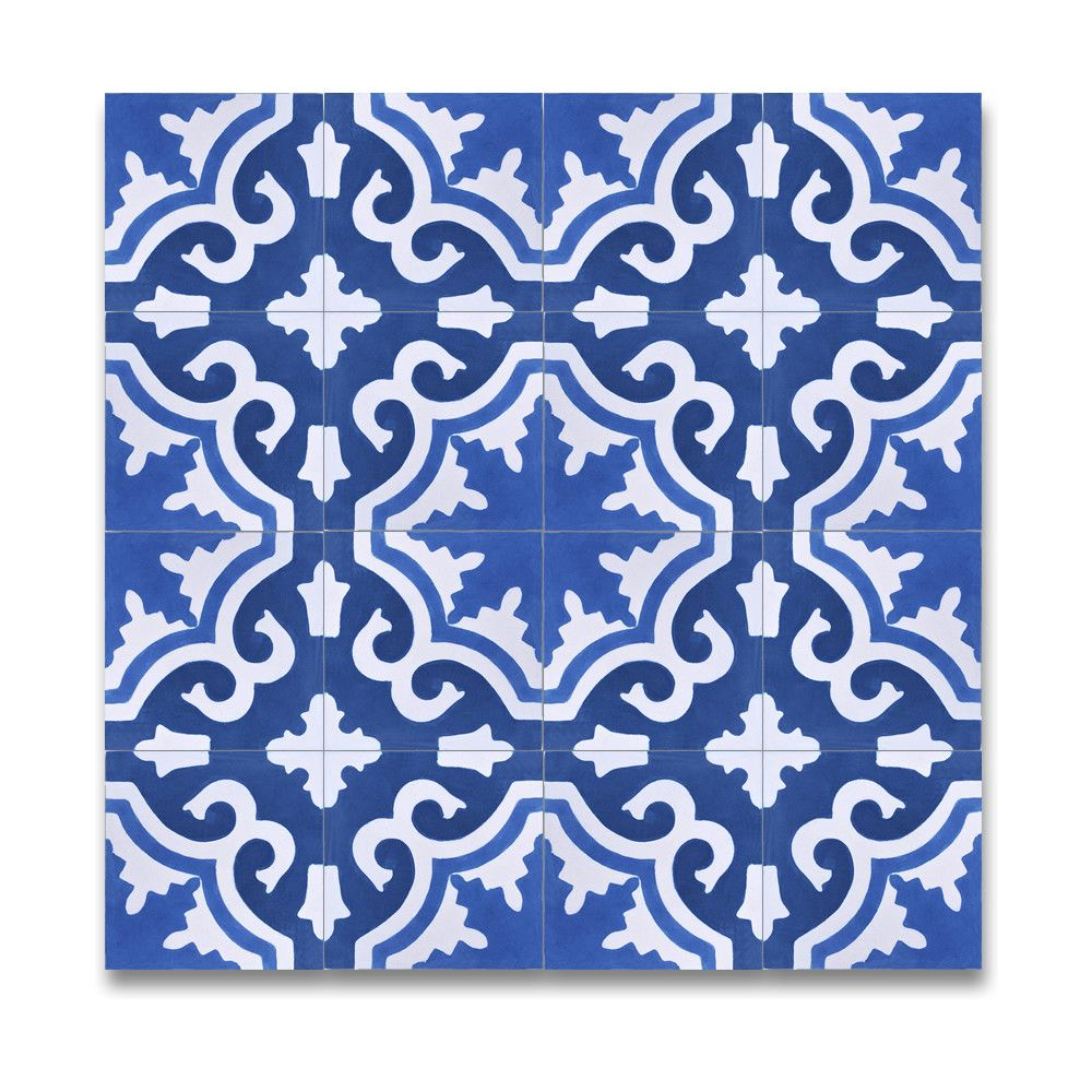 Moroccan Mosaic Tangier 8 X 8 Marble Hand Painted Tile