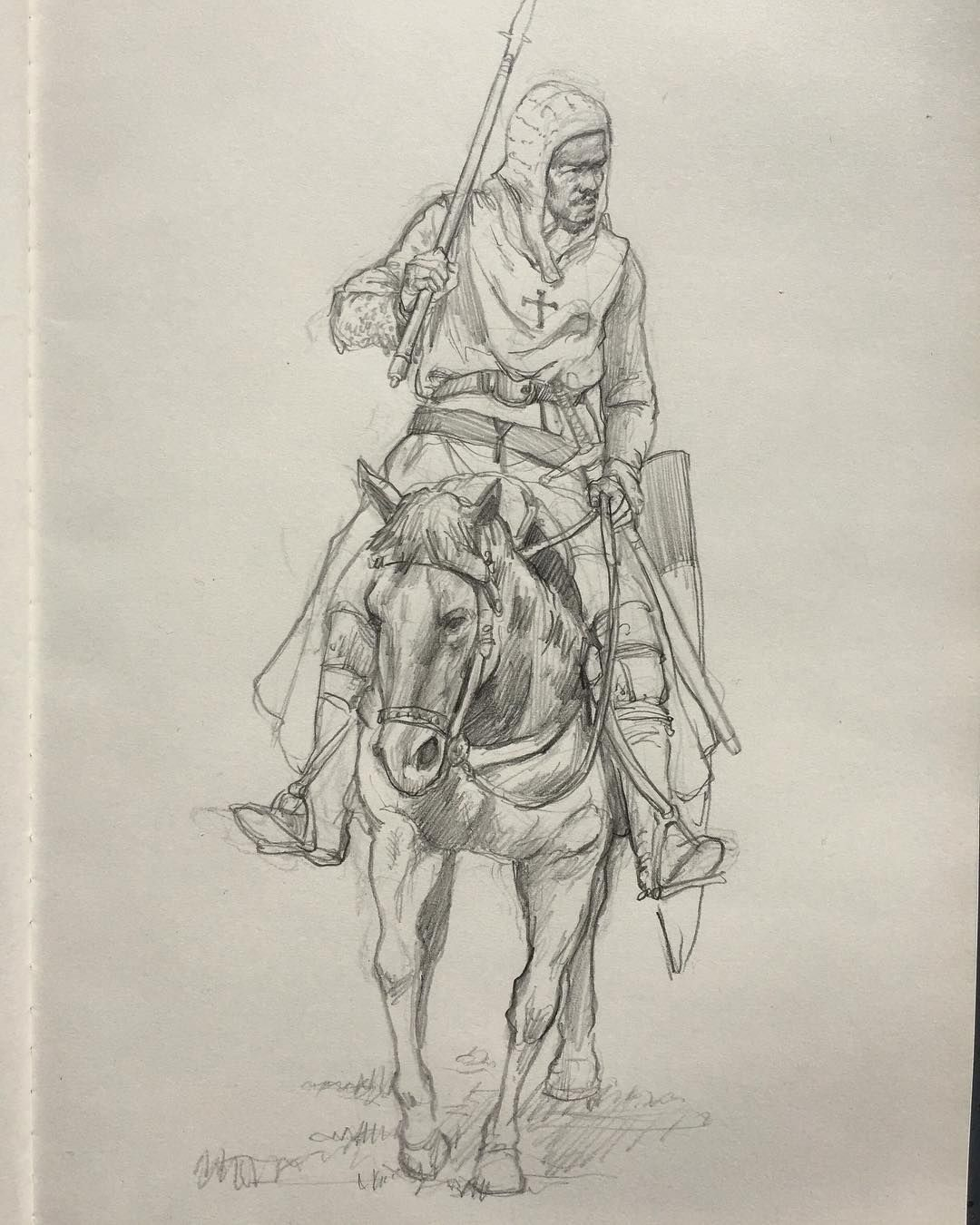 Pencil Sketch Knight