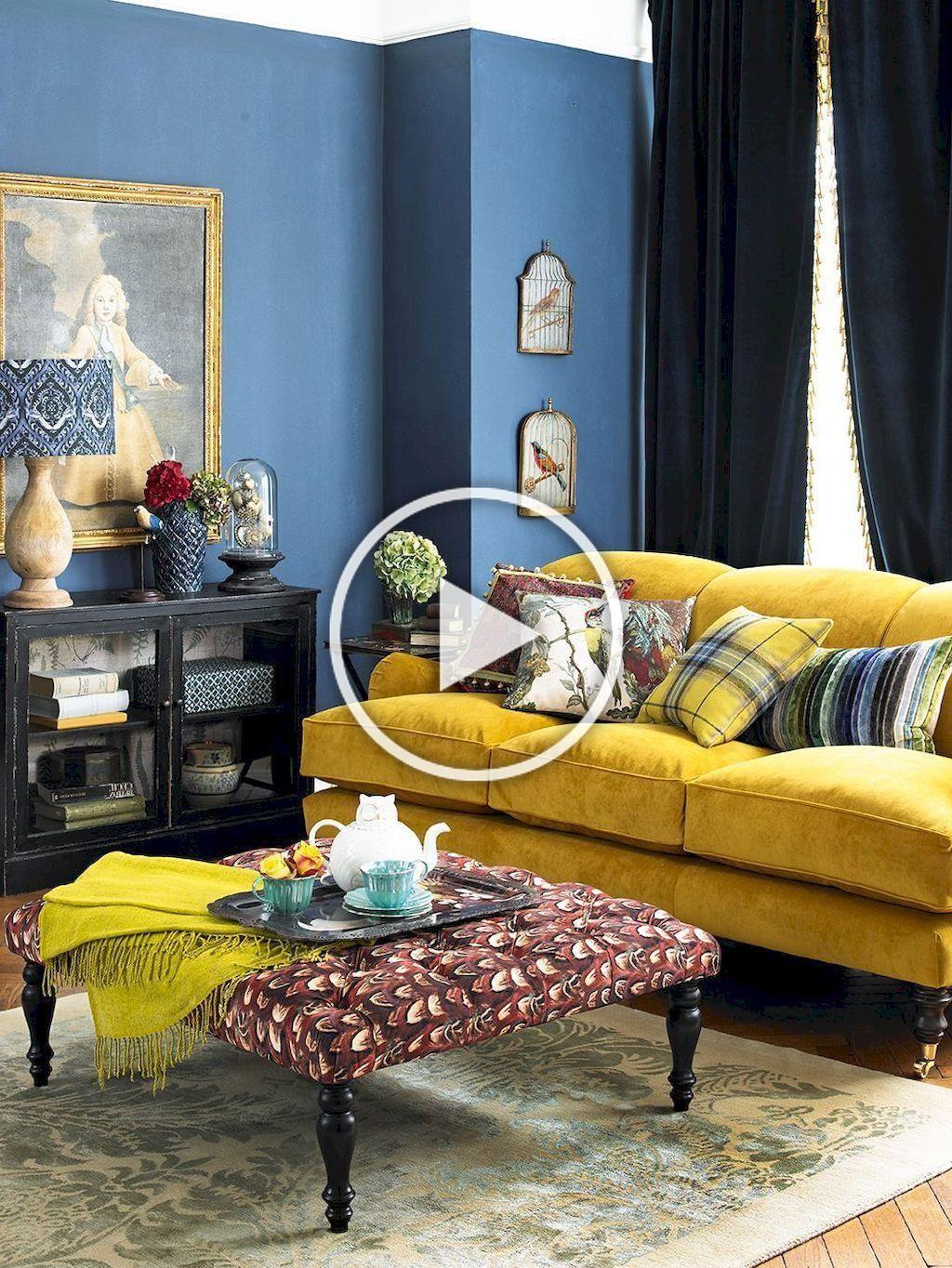 14 Inspiring Yellow Sofas For Living Room Decor Ideas In 2020 Yellow Sofa Design Yellow Sofa Blue Living Room