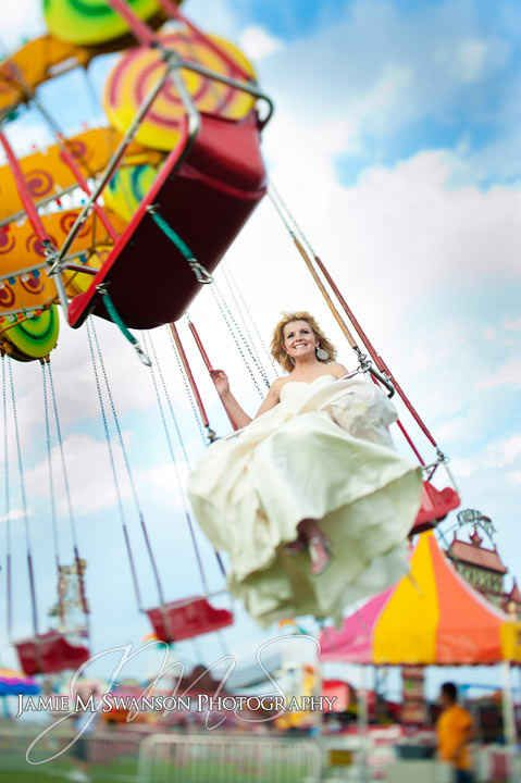 Get your carnival on! | 28 Ways To Trash Your Wedding Dress