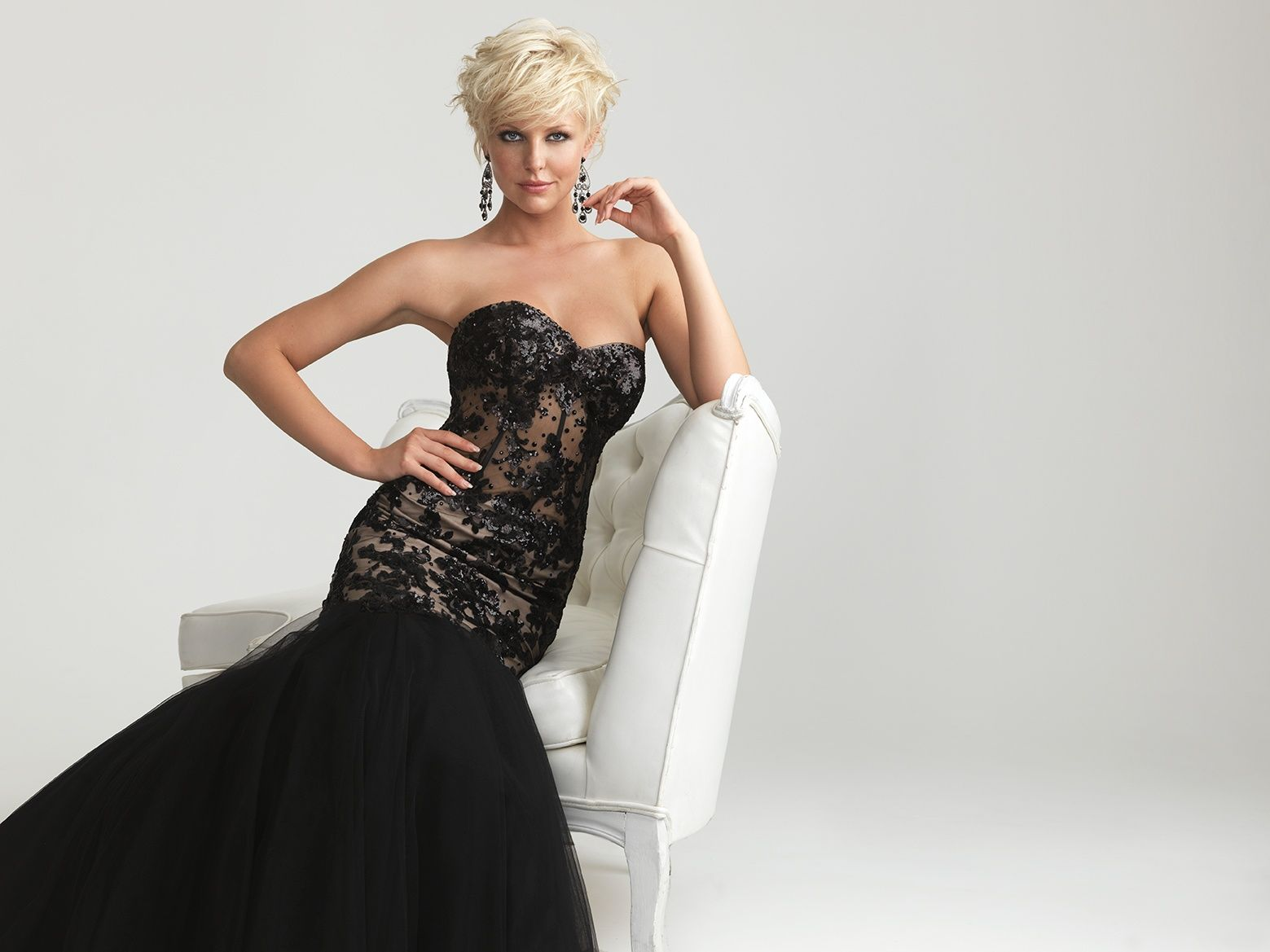 Night Moves sheer corset and trumpet skirt #promtastic #pageant ...