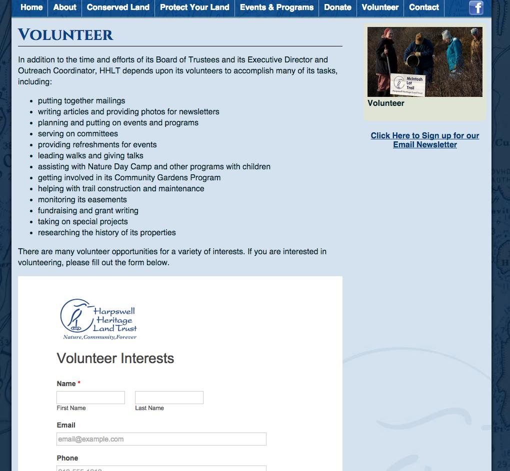 Volunteer Article Writing Volunteer Harpswell