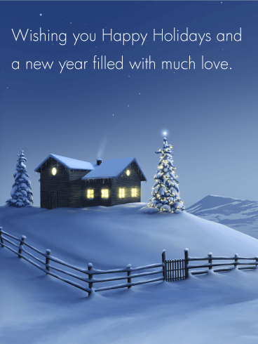 Winter snow night seasons greetings card when the earth is winter snow night seasons greetings card when the earth is blanketed in snow m4hsunfo