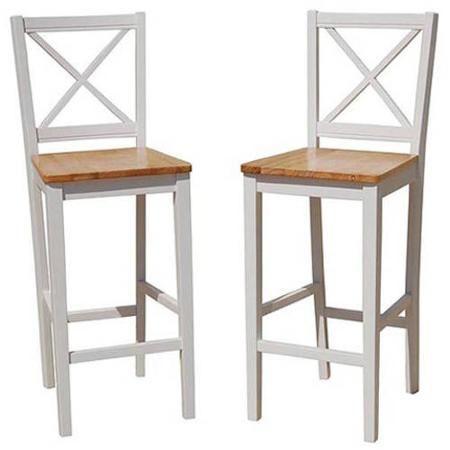 "Virginia Crossback 30"" Bar Stool Set Of 2 Whitenatural Gorgeous Walmart Kitchen Stools Design Inspiration"