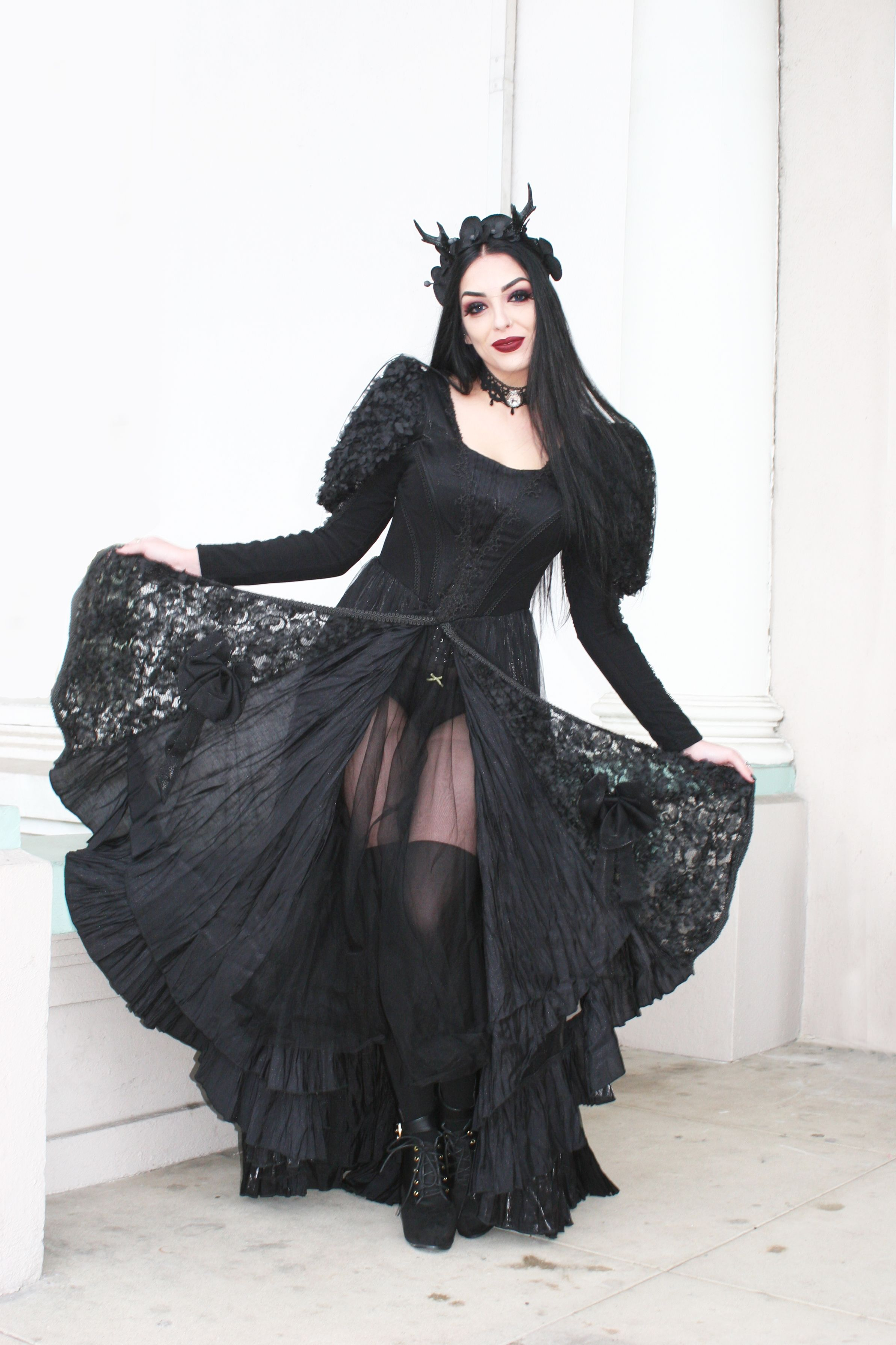nadia saeed in punk rave ballgown available at wwwipso factocom and ipso factos fullerton ca store photo terri kennedy