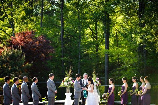 Outdoor Wedding Ceremony By Vesic Photography Gardens.duke