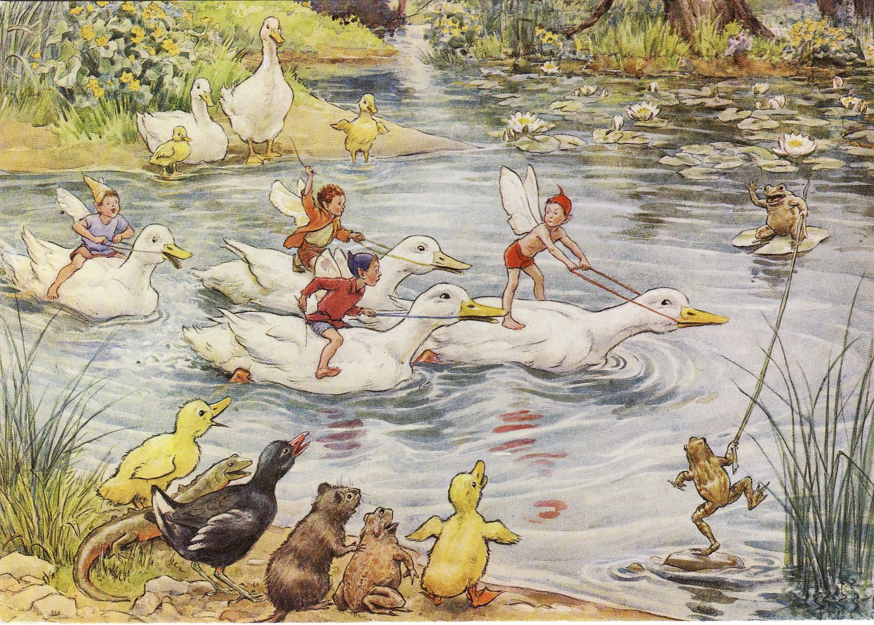 Water Sports by Margaret W. Tarrant