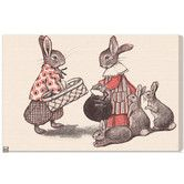 """Found it at AllModern - """"Rabbit Family"""" by Olivia's Easel Canvas Art"""