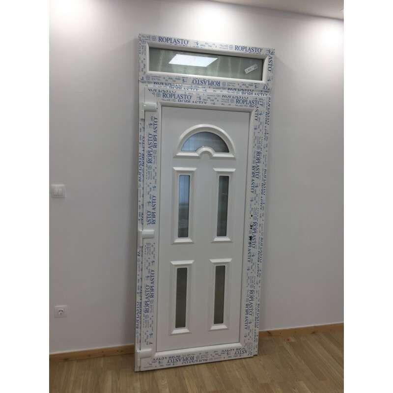 Thames Plastic Entrance Door with Skylight 98x238cm # White