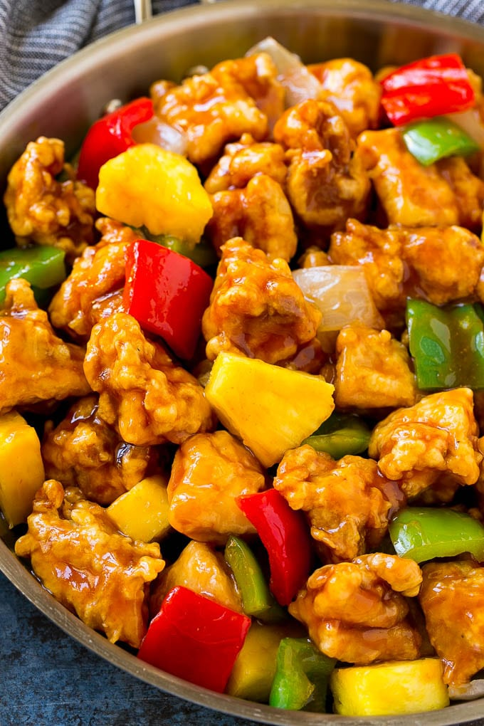 sweet and sour chicken recipe  chinese food copycat