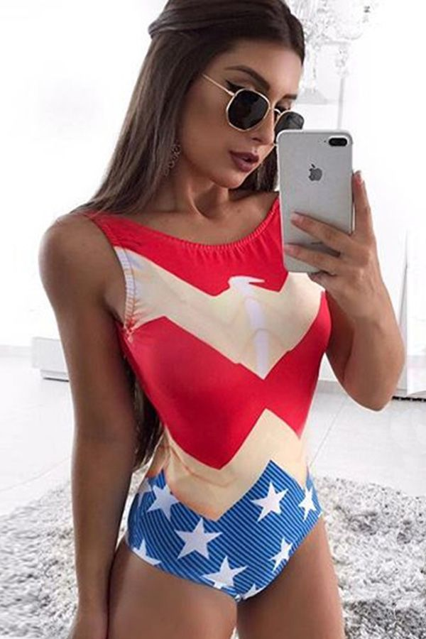d030c399338d Look sizzling in this sexy swimwear for 4th of July.  swimsuit  flag   maykool