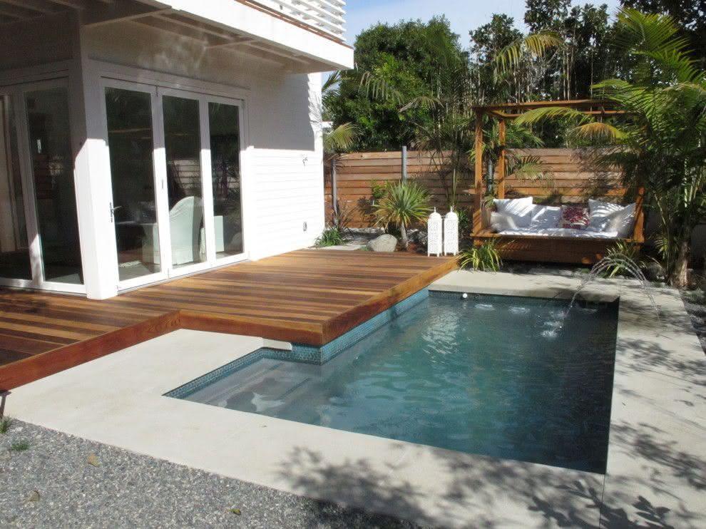 90 piscinas pequenas modelos projetos fotos lindas house swimming pool pinterest - Modelos de piscinas pequenas ...