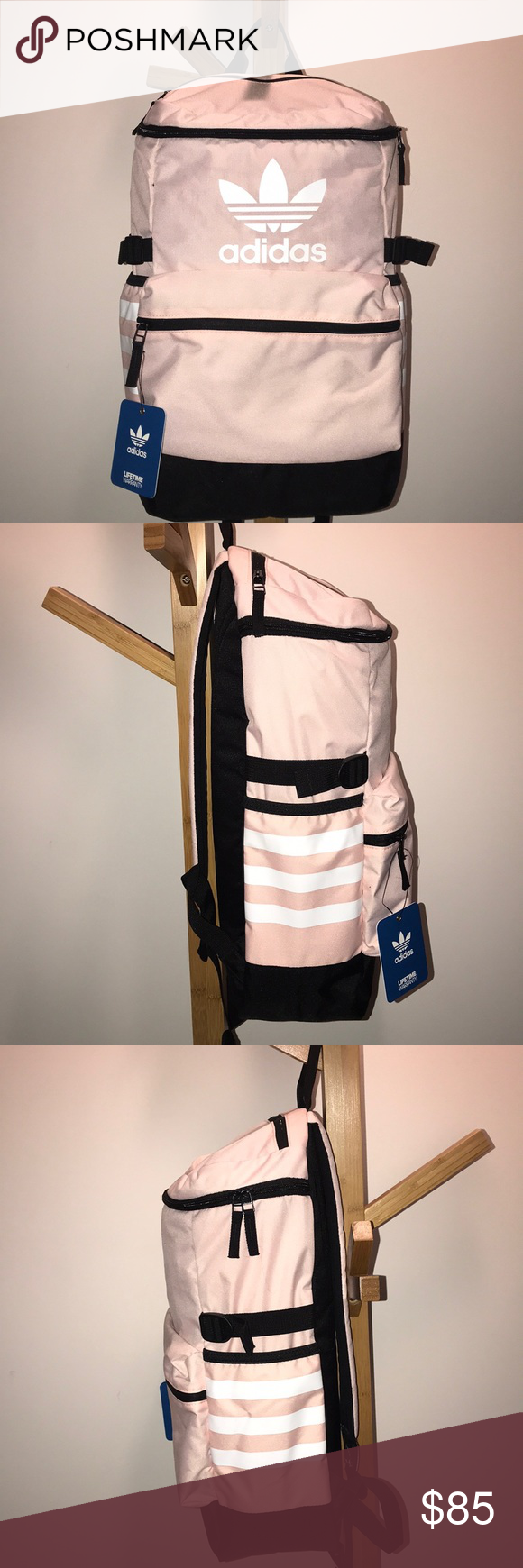 ca9dca0a6b4 NWT Adidas Icey Pink Backpack Pink + Black Adidas Backpack 🎒 -BNWT  attached, never