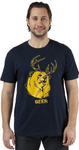 926e14cb7 Mac's BEER = Bear + Deer T-Shirt (XX-... | Fun | Beer shirts, Horse ...
