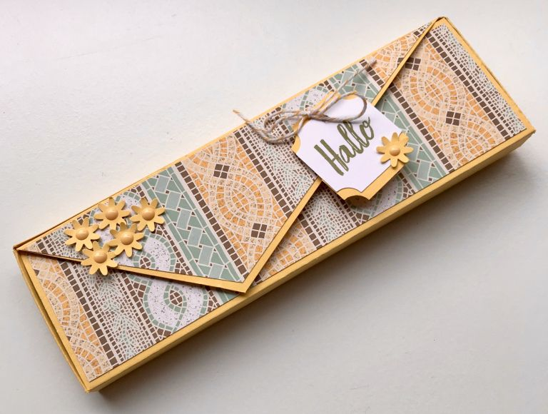 Eine Verpackung – flach und elegant :) | stempelfreundin