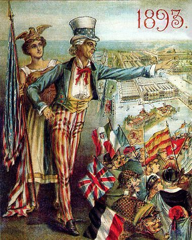 Columbia' and 'Uncle Sam' surveying, The World's Columbia Exposition -  Chicago Worlds Fair… | World's columbian exposition, Columbian exposition  1893, World's fair