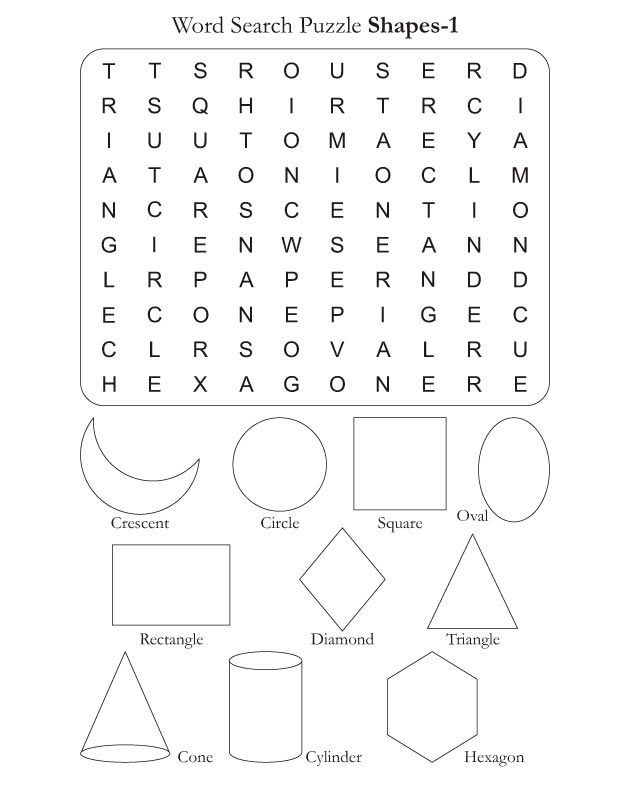 Word Search Puzzle Shapes 1 | Word Searches | Pinterest | Word ...