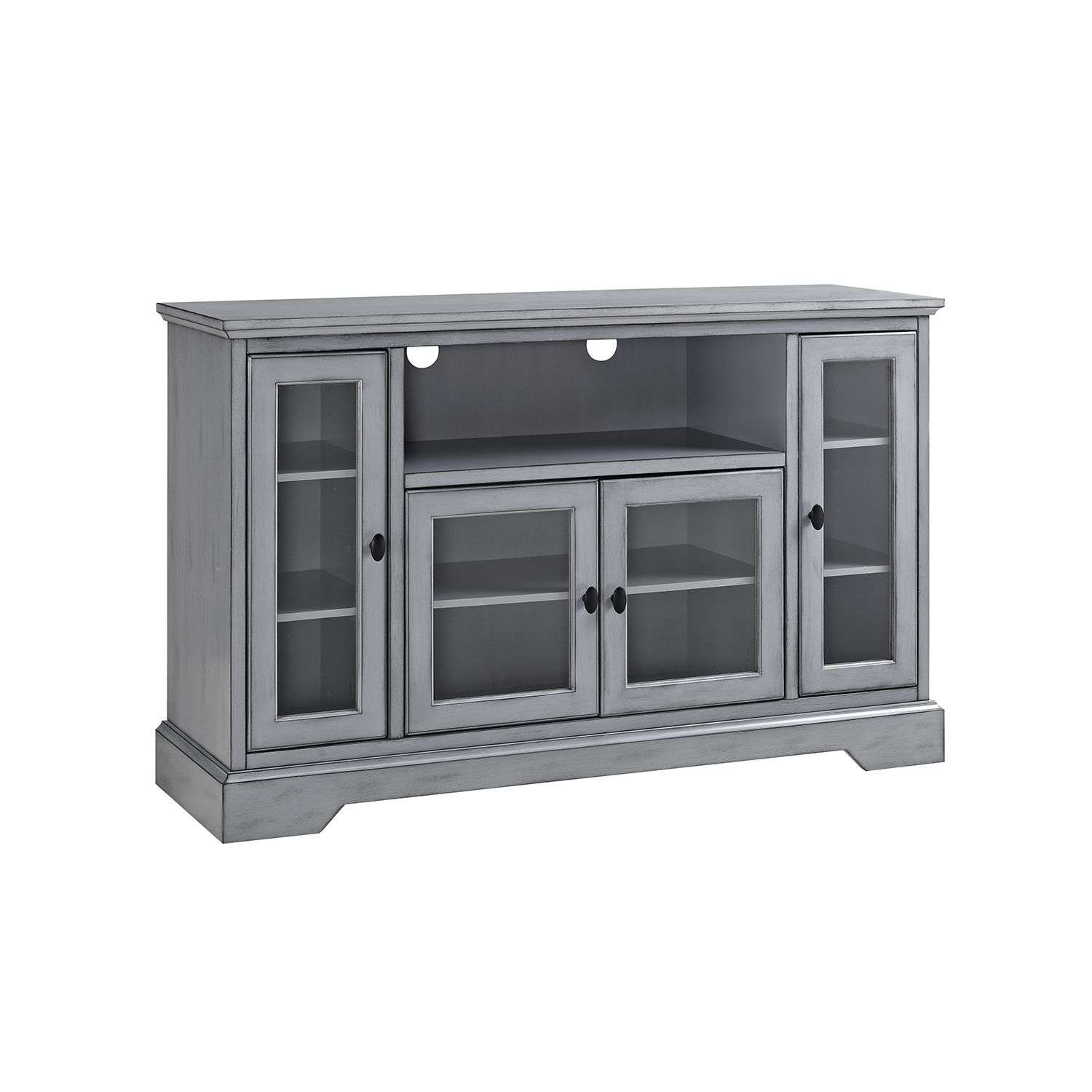 Walker Edison Furniture Co 52 Inch Wood Highboy Tv Media Stand Storage Console Antique Grey In 2019 Furniture Design Tv Stand With Storage Tv Media Sta