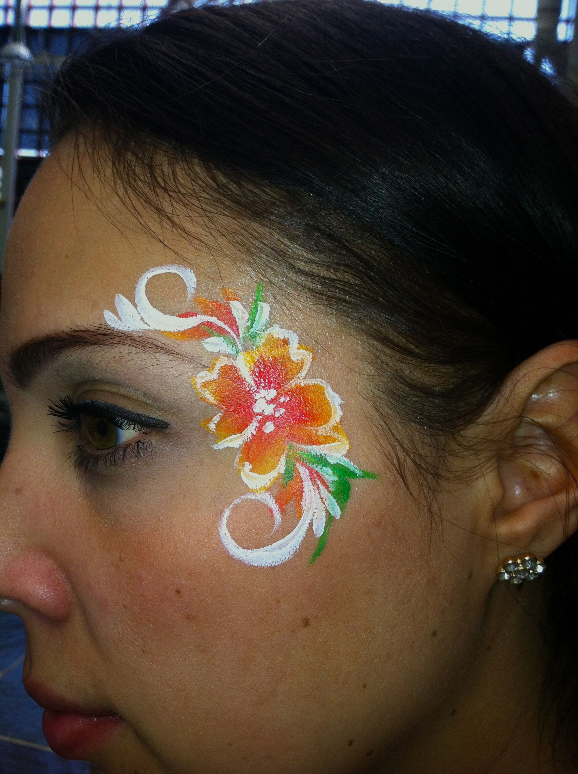 Flowers And Swirls Easy Face Painting Face Painting Flowers Easy Face Painting Designs Face Painting